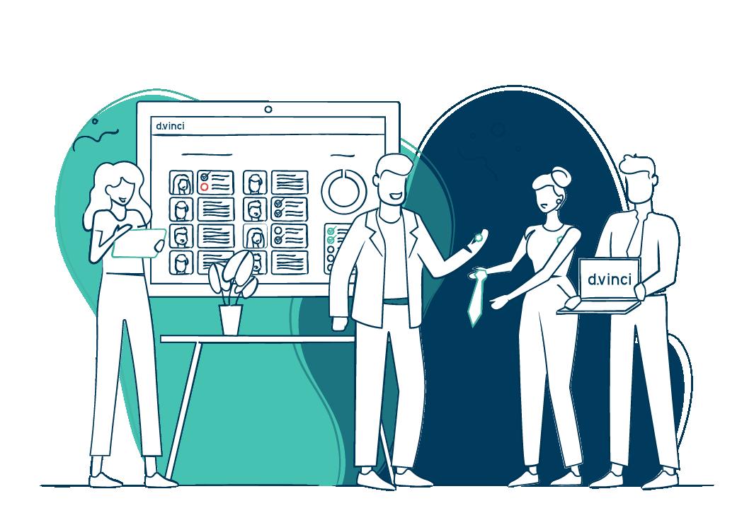 d.vinci | Illustration | Recruiting | Bewerbermanagement | Onboarding Software | Personalmarketing | HR | Personalsuche | Personal | Bewerber