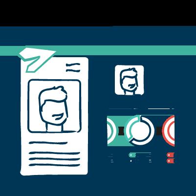 d.vinci   Illustration   Recruiting   Bewerbermanagement   Onboarding Software   Personalmarketing   HR   Personalsuche   Personal   Bewerber